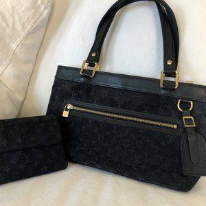 Louis Vuitton Lucille PM Navy Handbag and Wallet